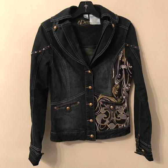 Dereon Denim Embroidered Jacket